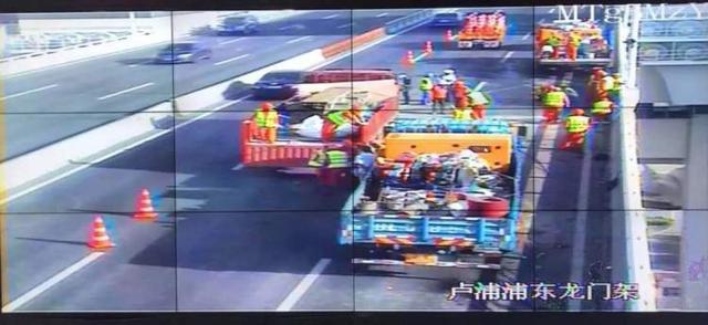 卢浦大桥早高峰拥堵,竟是因为违规占路施工!施工单位一负责人