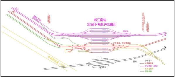 虹桥高铁停车场平面图