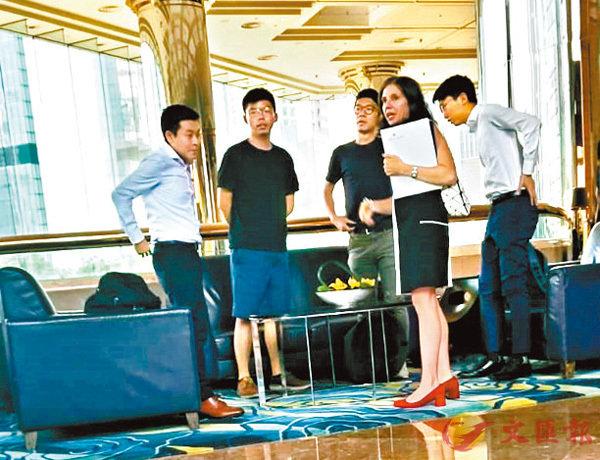 """""""港独""""组织头目会美驻港领事,竟密谋""""制裁""""香港"""
