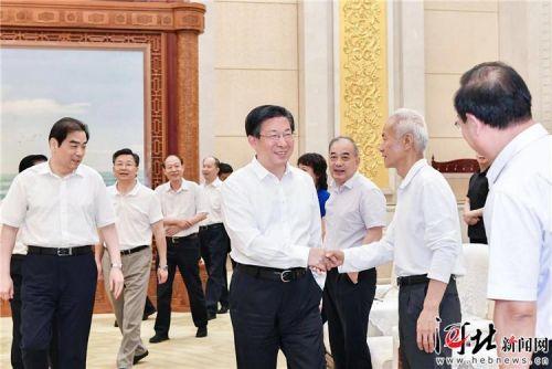 王东峰与出席京津冀协同立法工作联席会议代表举行工作座谈