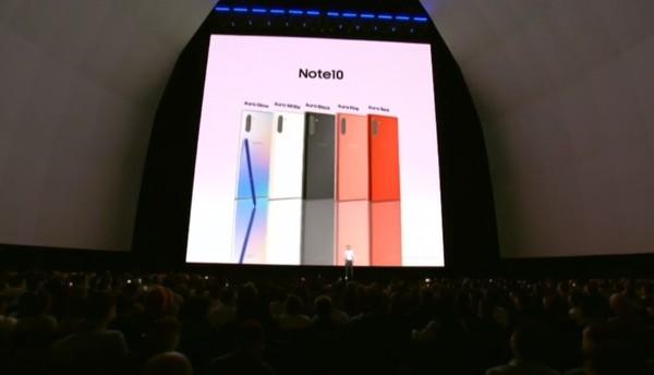三星Galaxy Note10系列正式发布 国内先尝鲜价6999元