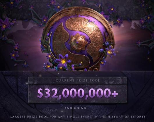 DOTA2:Ti9奖金池刷新记录,突破三千万美元,纸质票令玩家不满
