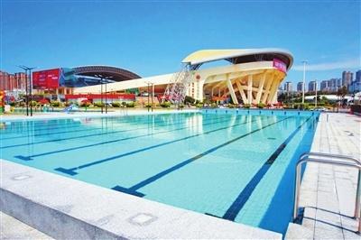 市体育中心室外游泳场、笼式足球场、健身服务中心陆续开放