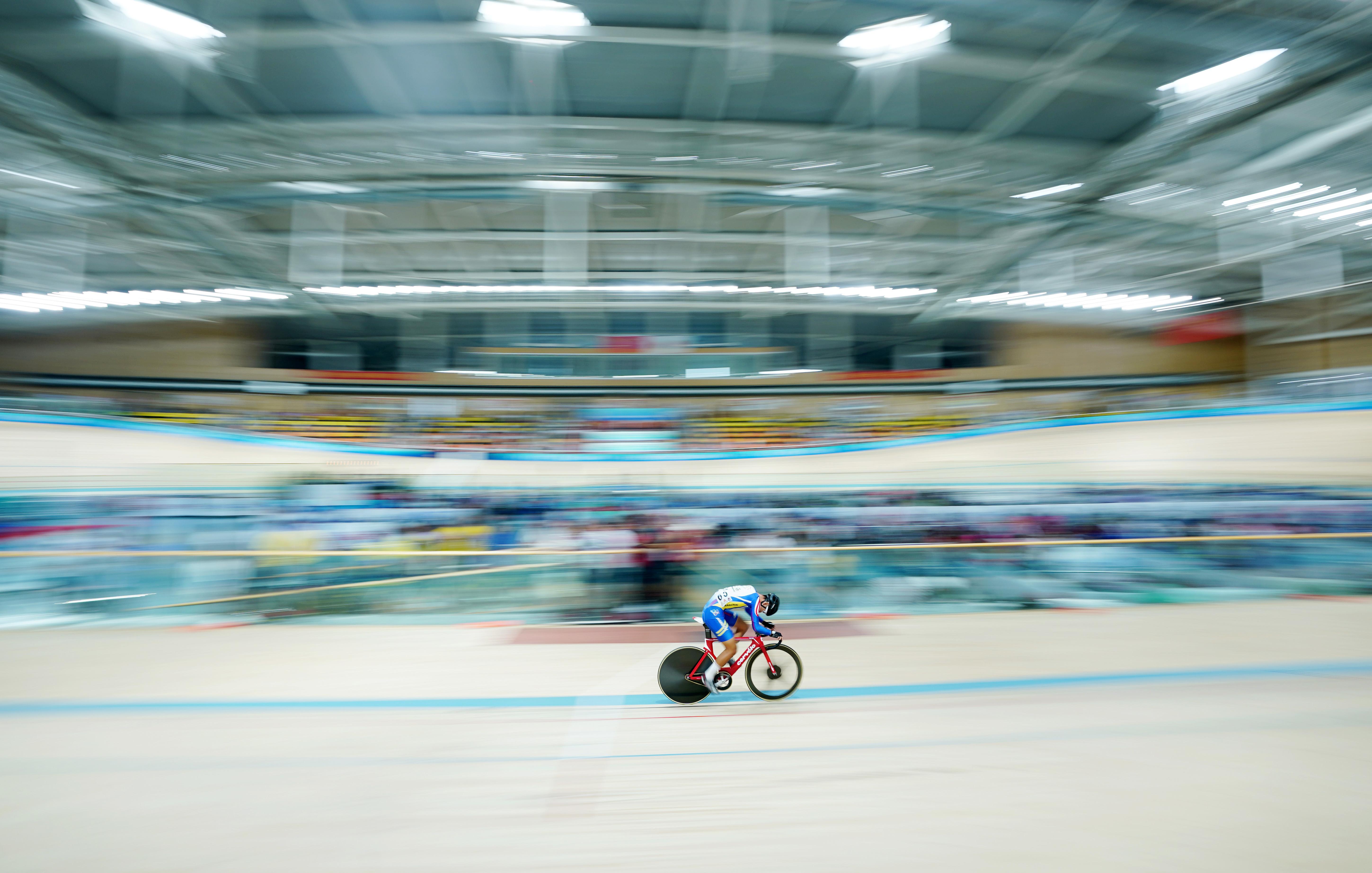 场地自行车——体校甲组须眉全能赛赛况
