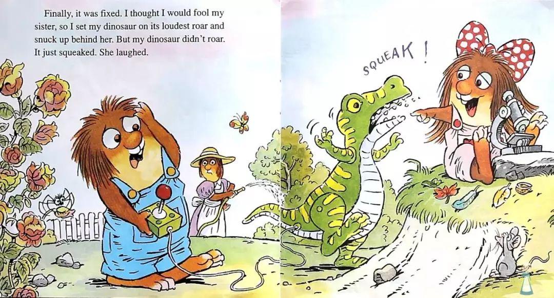 我和妹妹在宺i��a�9`f��,_she laughed. 最后,恐龙玩具修好了.我心里想可以愚弄下妹妹了.