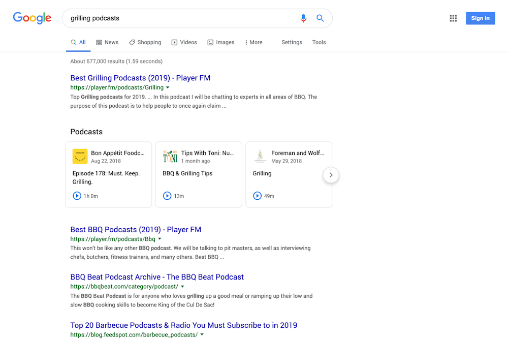 Google 在搜索结果中插入 Podcast 播客节目_用户