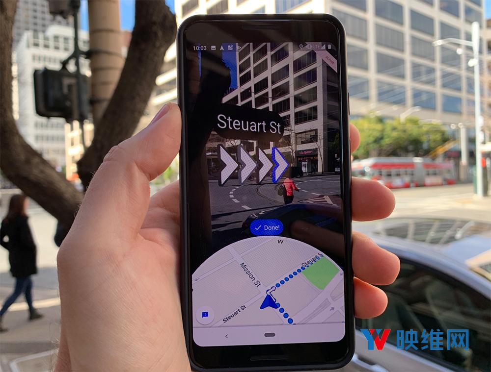 谷歌地图发布AR导航升级功能Live View,供快速、轻松、有用的行走指引