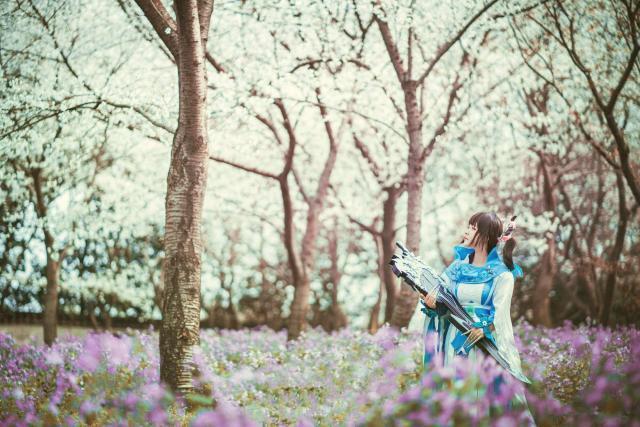 《七夕游园》面积荣耀~甄姬献上王者~剑三琴萝cos惊梦北京豪华别墅图片