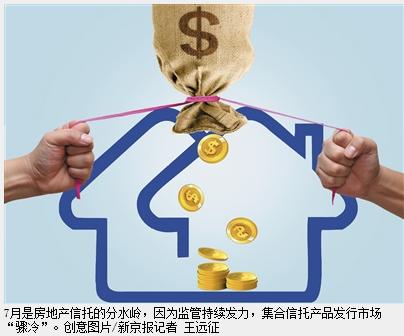 """监管效力显现 7月房地产信托融资""""入秋"""""""