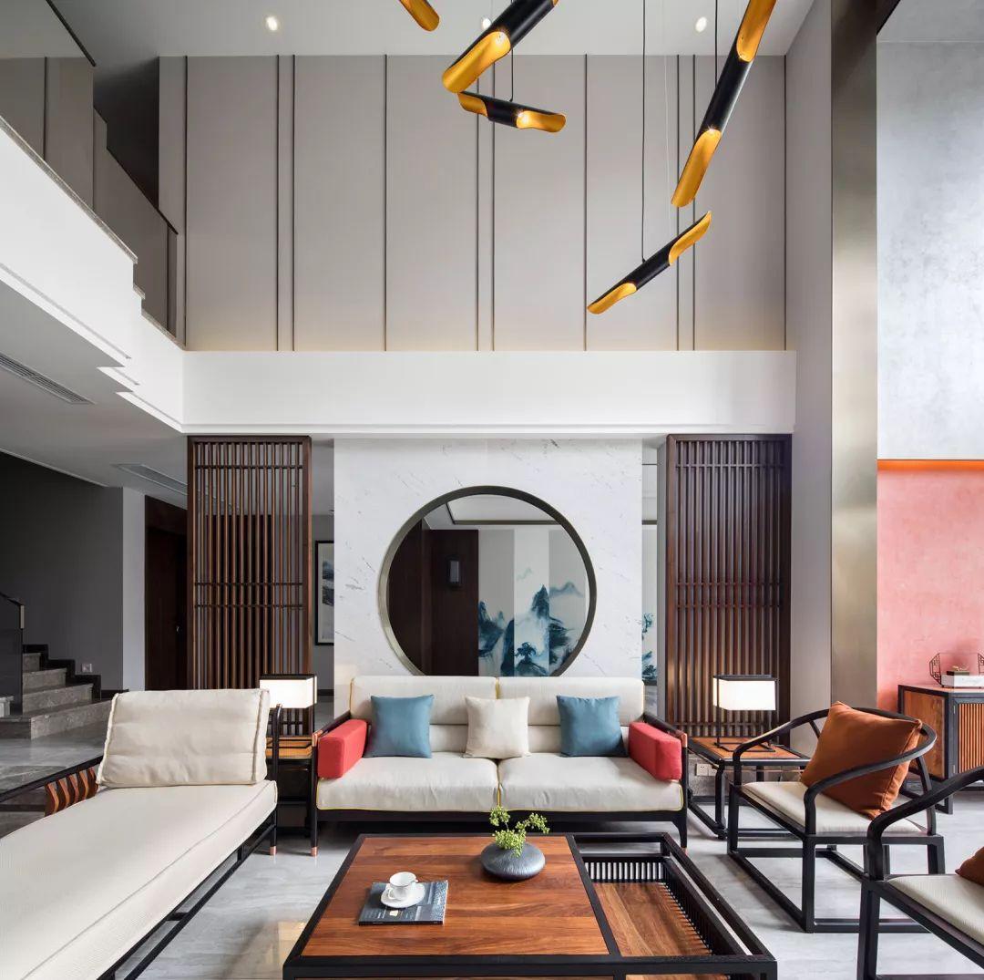 350㎡新中式轻奢别墅设计落地方案