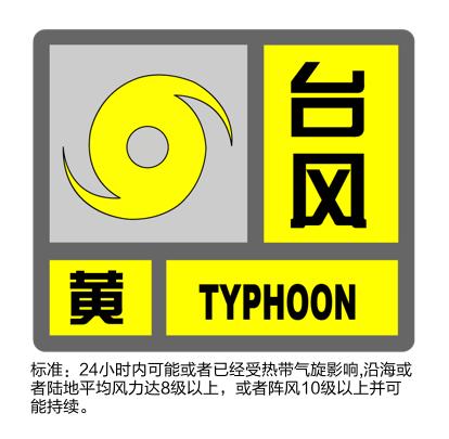 台风预警13时升级为黄色!沪上相关设施调整信息继续更新