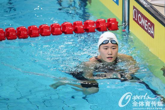 游泳世界杯200自侯雅雯夺冠科勒曼亚军 叶诗文第四