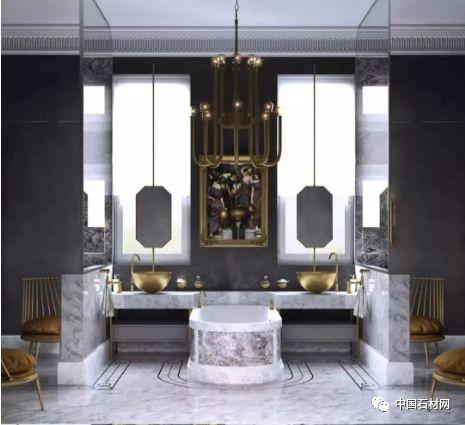大理石卫浴,完美的呈现低调奢华的精髓