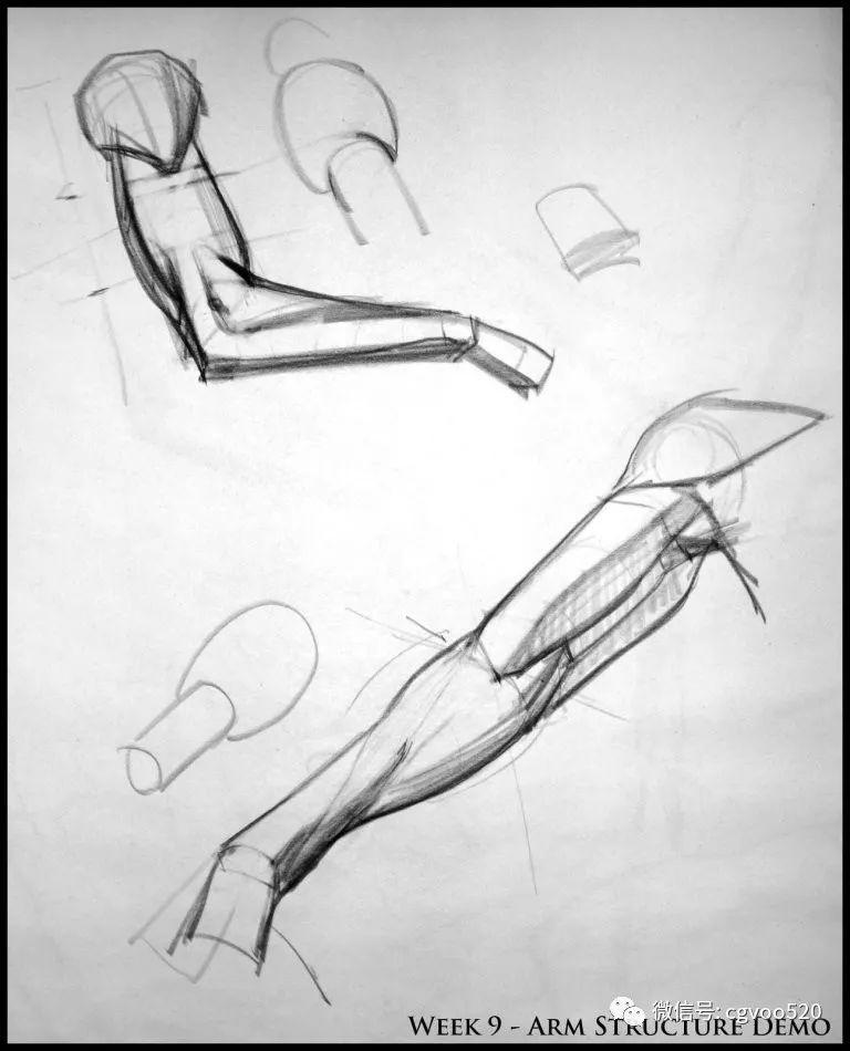 绘画教程 简单适用的关于手臂的绘画教程
