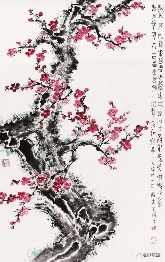 丁辅之 梅花 丁辅之(1879-1949),近现代篆刻家,书画家,著名的西泠印图片