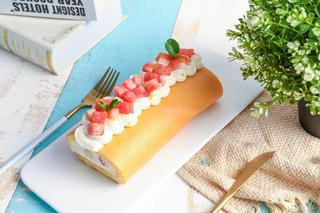 比浮云卷还要嫩的蛋糕卷,百利甜白桃卷,养颜又清新!