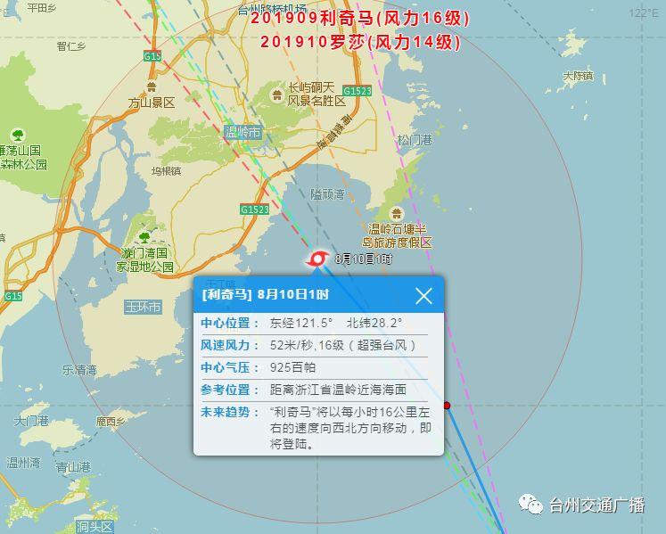 刚刚,超强台风利奇马在温岭登陆!16级!!!网友:房子晃得厉害
