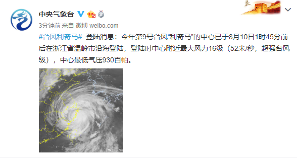 <b>超强台风登陆!建国后第三强!10级大风+大暴雨!扬州作出重要部署!</b>
