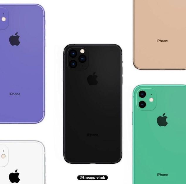 苹果iPhone 11系列全配色曝光,有没有你中意的颜色?