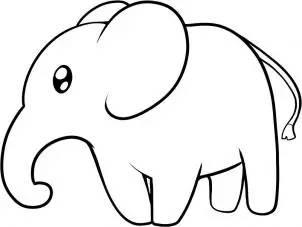 大象简笔画 可爱的大象 大象简笔画