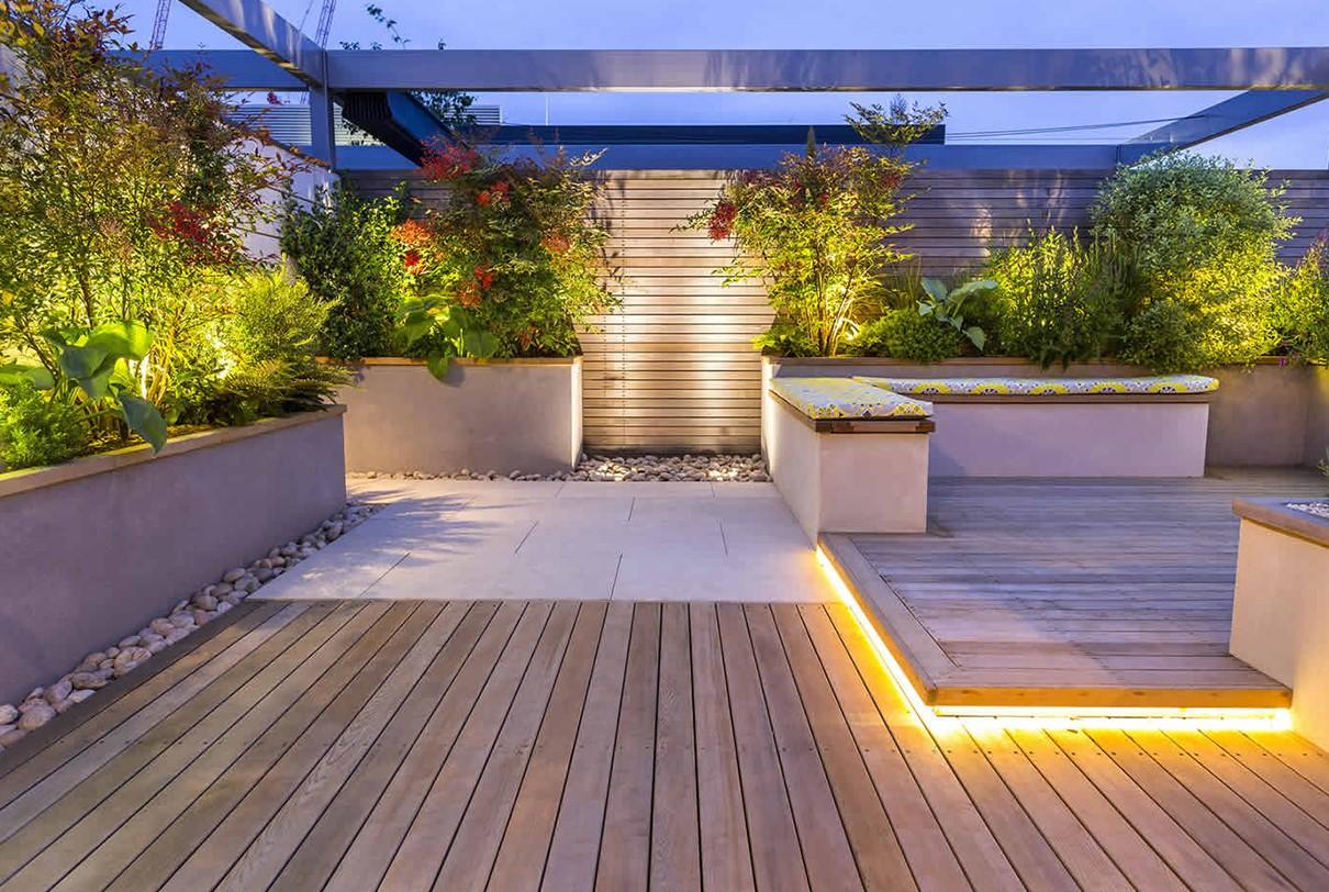 下沉式花园设计滁州天长装修设计图片