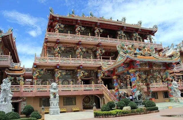 哪吒燃爆国内!但最大的哪吒庙却在泰国,壮观华丽,快来围观