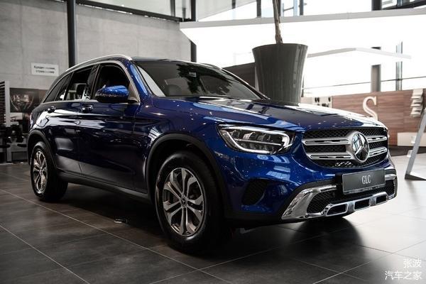 全新奔驰GLC级海外实车到达店,蓝色车身_车家号_找到车生活_车家