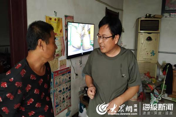 阳信县洋湖乡机关干部沐风栉雨全力以赴抗台风
