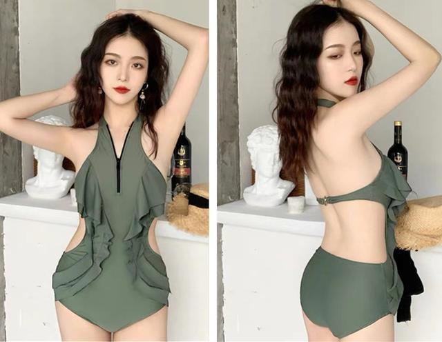 Hollow one-piece swimsuit