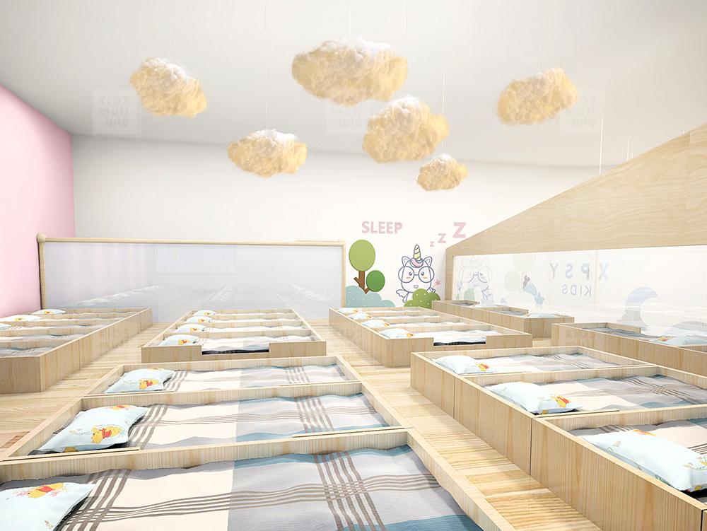 二.幼儿园休息室的软装设计   1. 幼儿床是幼儿休息的地方,在幼儿床的选择上要注意材料的环保性.图片