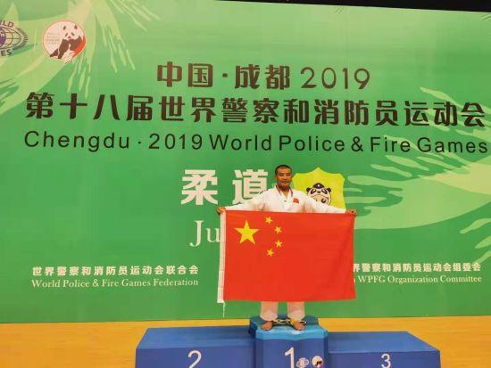 内蒙古刑警巴图吉日嘎拉夺世界警察运动会柔道金牌