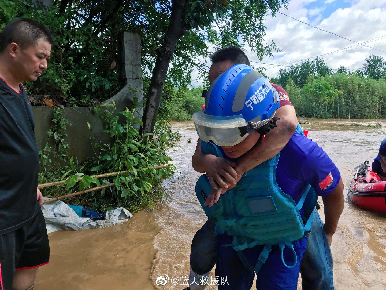 安徽寧國5人失聯,航空隊已進行空中偵察_藍天救援隊