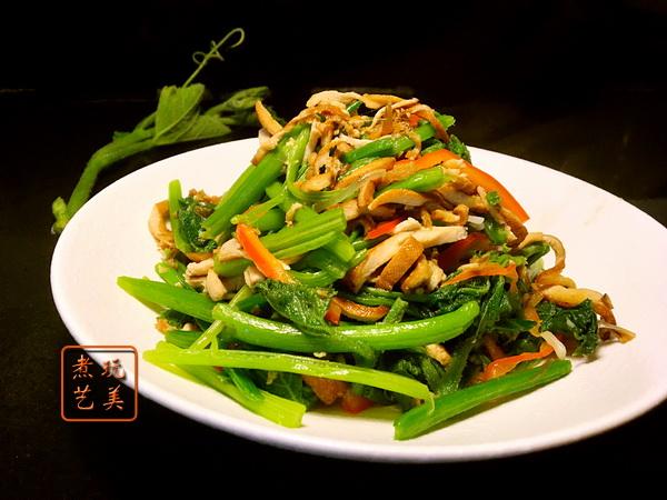 拿一个梗做一道菜,粘乎乎秋葵加上木鱼花速成佳肴:秋葵是个什么梗