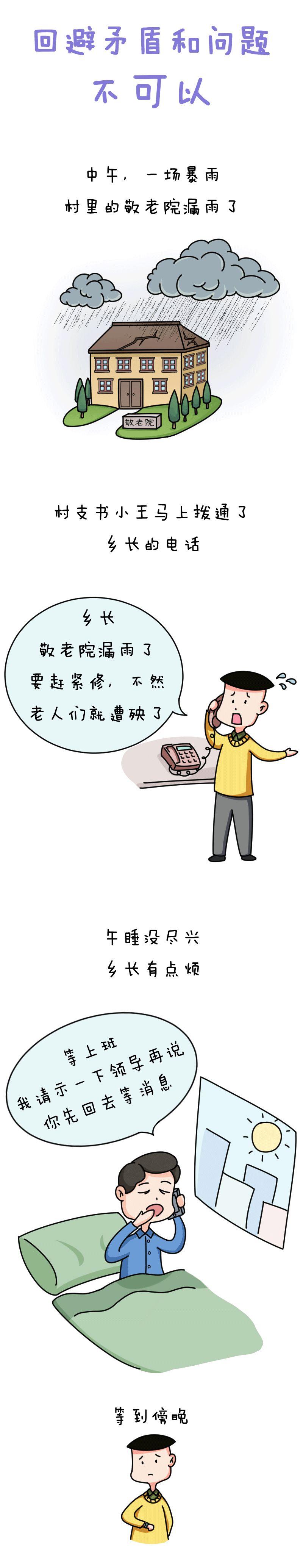 漫画说纪丨回避矛盾和问题不可以