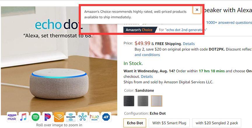 Amazon's Choice有何内幕?姐夫竟因此被美国议员找上门!