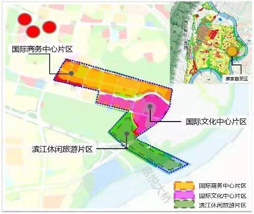 (蔡家自贸区规划图)