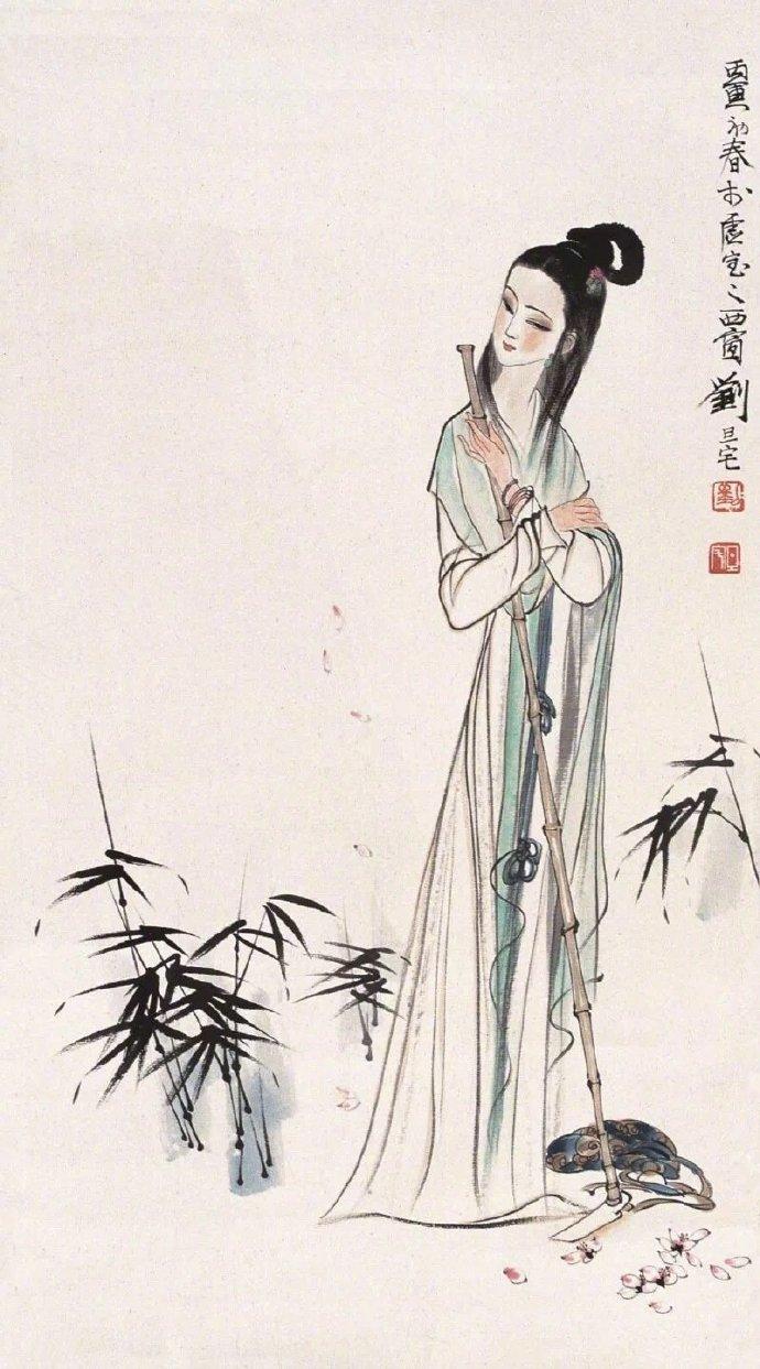 [当代名家:刘旦宅写意  考虑让女儿去国画 感觉国画更有诗意]写意国画