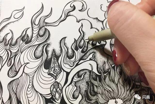 哪吒之魔童降世 海报线描插画手绘教程
