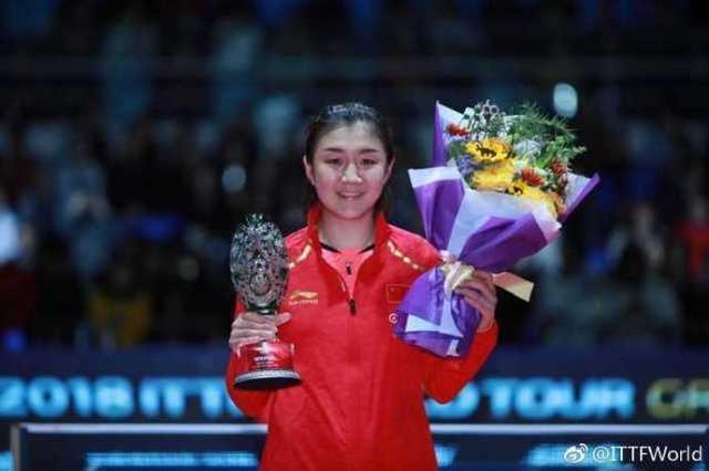<b>女乒第一美女爆砍6冠,世界第一连胜日本2大冠军,陈梦亚锦赛冲冠</b>