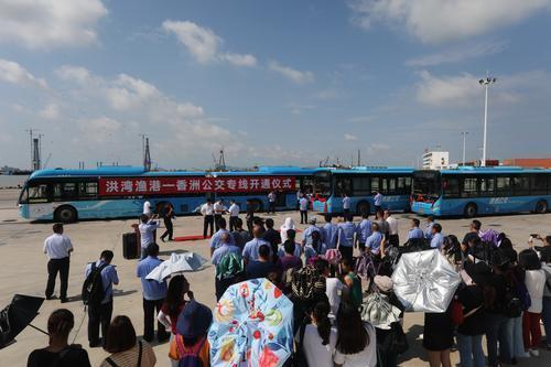 <b>看风景、买海鲜都方便!香洲-洪湾中心渔港公交专线开通</b>