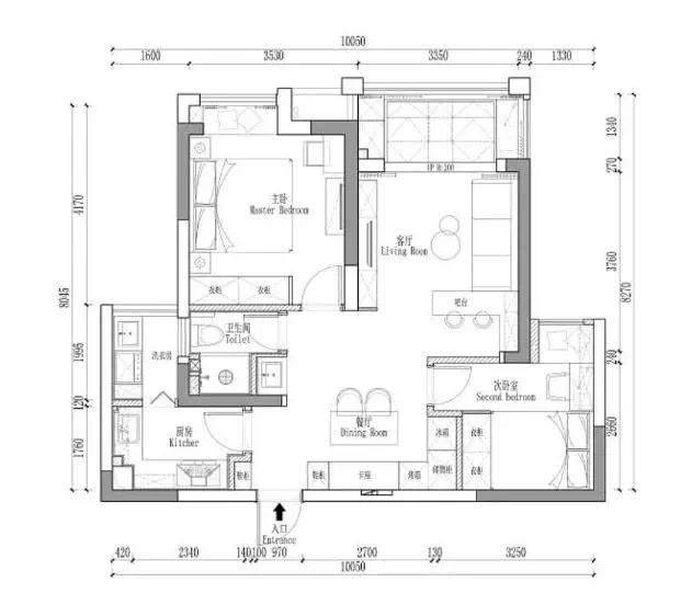 86㎡两居室,阳台做个小改动,两居瞬间变三居