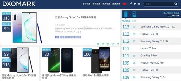三星Note10+ 5G成最强自拍手机 99分登顶世界第一