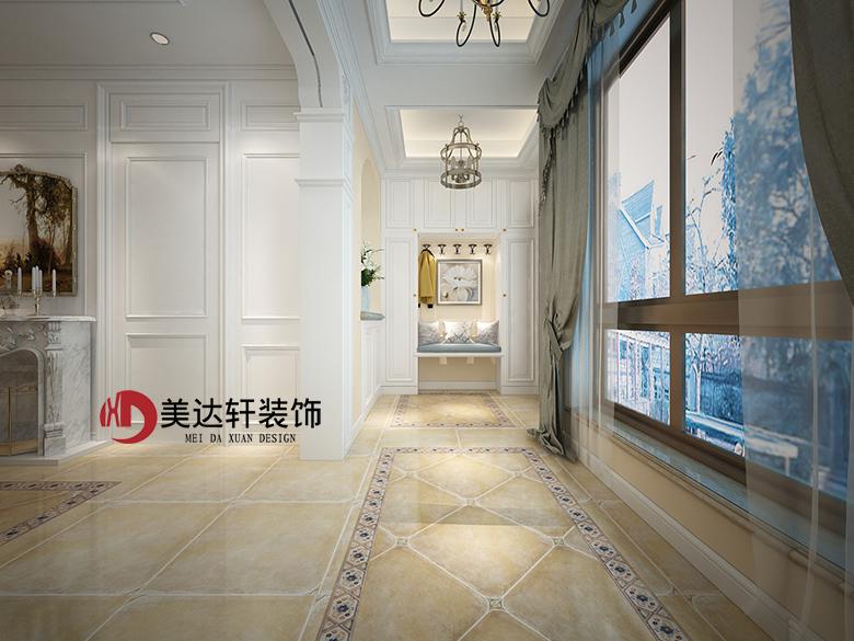怀柔设计师王园丽欧式风格别墅装修设计效果图
