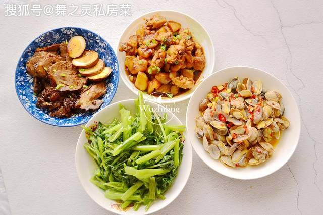 家常午餐,4道菜,有荤有素营养好,秋季贴秋膘就要这么吃