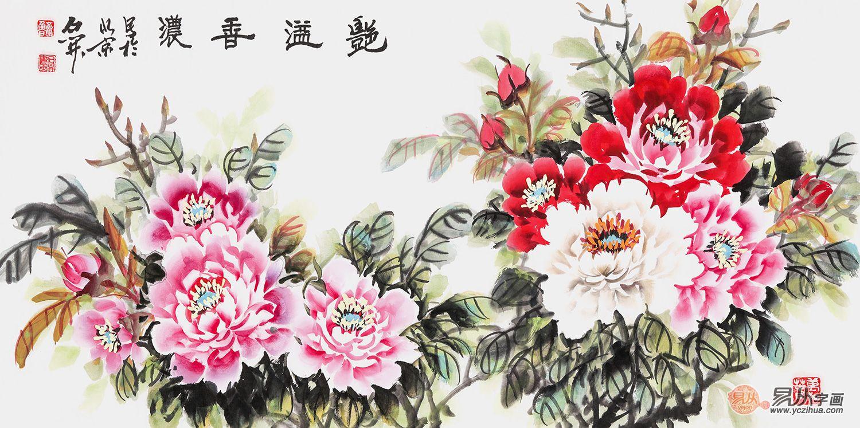 客厅挂国画哪种题材,富贵牡丹国画是首选图片