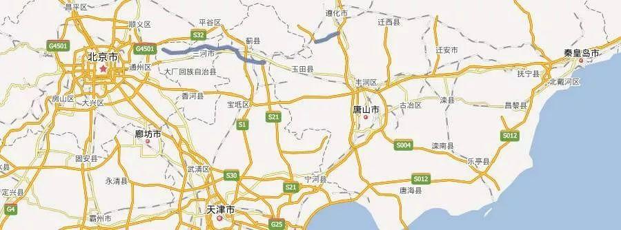 河北要新建一条高速,秦、唐至京至少缩短半小时路程
