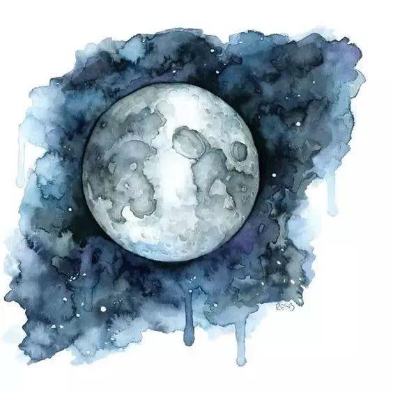 水彩各种星空 水彩是不是最适合画星空的颜料