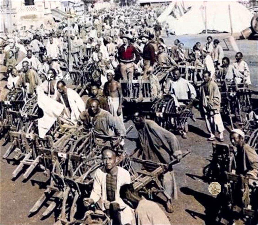 上色老照片:直击八国联军侵华的镜头,慈禧西逃见证清末的落后