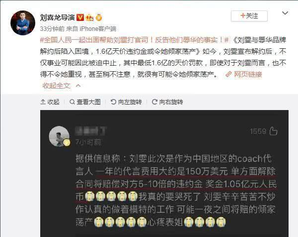 刘雯解约蔻驰后获国人力挺,18线小厂家愿花百万邀请其代言 作者: 来源:金牌娱乐