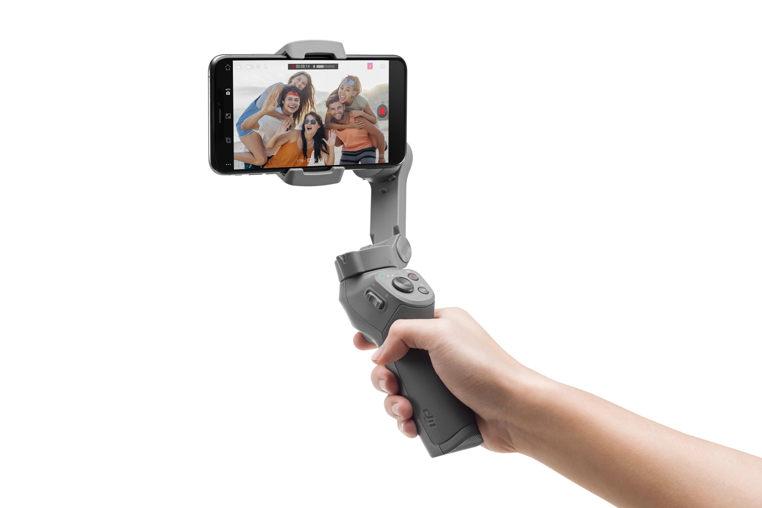 DJI 大年夜疆创新发布灵眸手机云台3,采取可折叠设计
